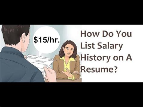 Resume Etiquette: How Do I Include My Salary History